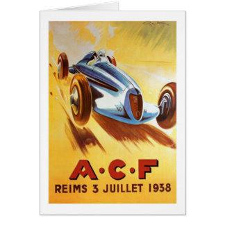 ACF Reims 3 Juillet 1938 Greeting Card