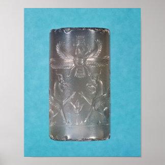 Achaemenid cylinder seal poster