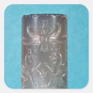 Achaemenid cylinder seal square sticker