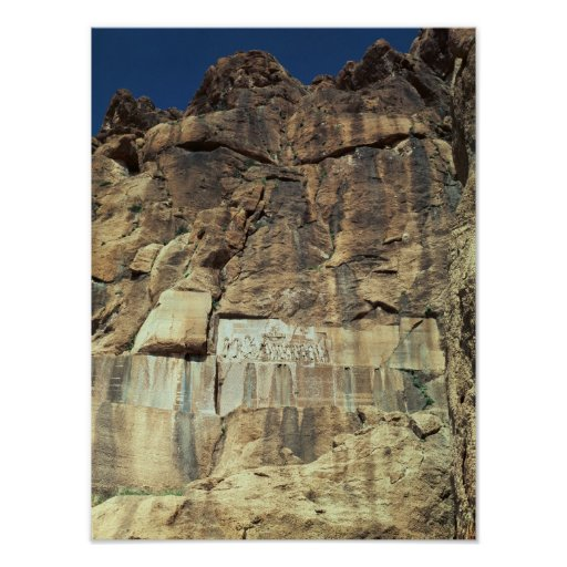 Achaemenid rock relief of King Darius I Poster