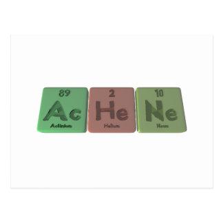 Achene-Ac-He-Ne-Actinium-Helium-Neon Post Cards