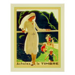 Achetez Le Timbre ~ Vintage French World War 1 Poster