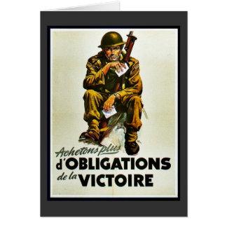 Achetons Plus D' Obligations De La Victoire Greeting Card
