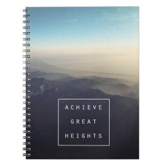 Achieve Great Heights Spiral Notebook