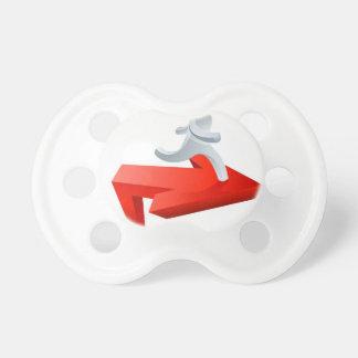 Achievement concept baby pacifiers