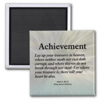 Achievement Matthew 6:20-21 Square Magnet