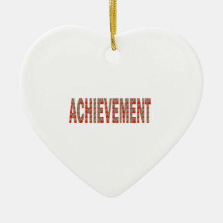 ACHIEVEMENT Success Motivation Effort Inspiration Christmas Ornament