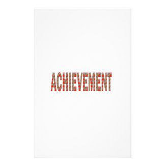 ACHIEVEMENT Success Motivation Effort Inspiration Customized Stationery
