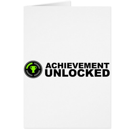 Achievement Unlocked Greeting Cards
