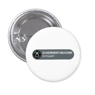 Achievement Unlocked - Got Engaged 3 Cm Round Badge