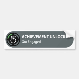 Achievement Unlocked - Got Engaged Bumper Sticker