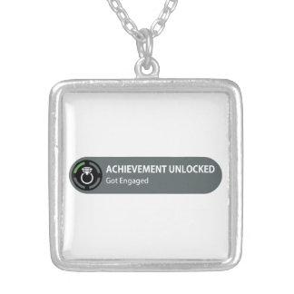 Achievement Unlocked - Got Engaged Necklaces