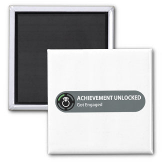Achievement Unlocked - Got Engaged Square Magnet