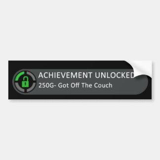 Achievement Unlocked Got Off The Couch Bumper Sticker
