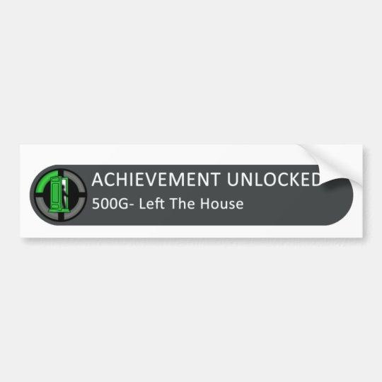 Achievement Unlocked  Left The House Bumper Sticker