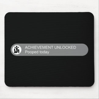 Achievement Unlocked Pooped Today Mouse Mat