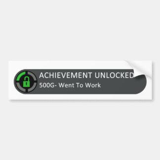 Achievement Unlocked Sticker Bumper Sticker