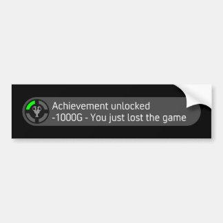 Achievement Unlocked - You Just Lost The Game Bumper Sticker