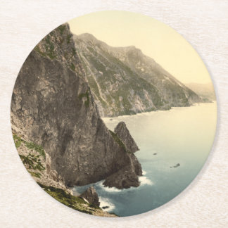 Achill Head, County Mayo, Ireland Round Paper Coaster