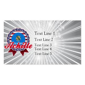 Achille, OK Business Card Templates