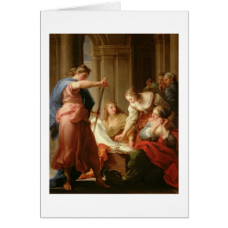 Achilles at the Court of King Lycomedes with his D Greeting Card