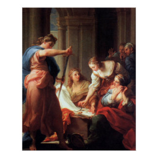 Achilles at the Court of Lycomedes Print