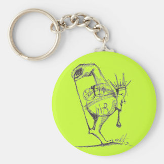 Achilles Basic Round Button Key Ring