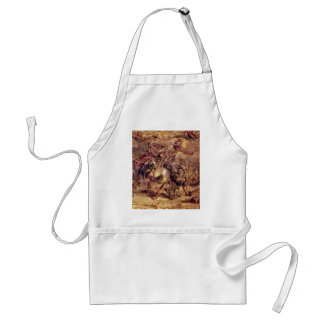 Achilles Defeated Hector.,  By Peter Paul Rubens Adult Apron