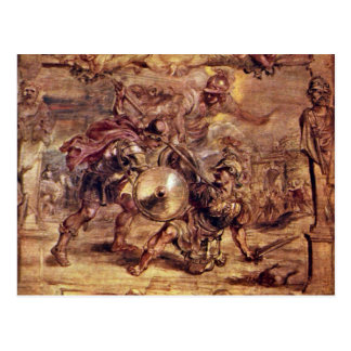 Achilles Defeated Hector.,  By Peter Paul Rubens Post Card