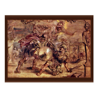 Achilles Defeated Hector.,  By Peter Paul Rubens Postcard