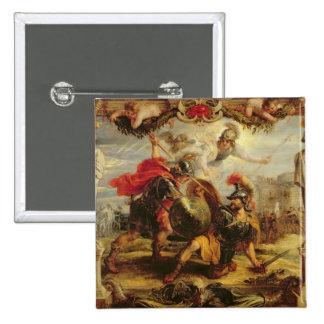 Achilles Defeating Hector, 1630-32 15 Cm Square Badge
