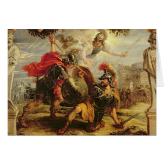 Achilles Defeating Hector, 1630-32 Greeting Card