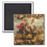 Achilles Defeating Hector, 1630-32 Refrigerator Magnet