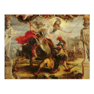 Achilles Defeating Hector, 1630-32 Postcard