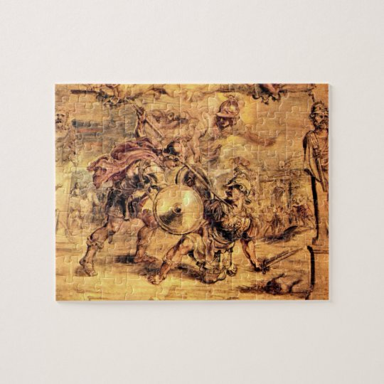 Achilles defeats Hector by Paul Rubens Jigsaw Puzzle
