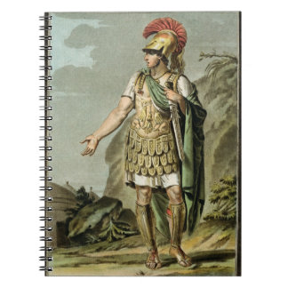 Achilles in Armour, costume for 'Iphigenia in Auli Note Book