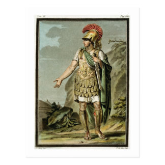 Achilles in Armour, costume for 'Iphigenia in Auli Postcard