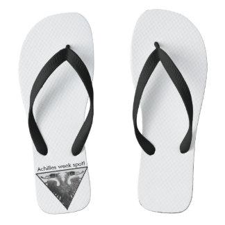 Achilles week spot! flip flops