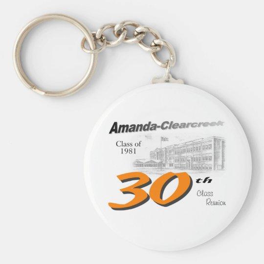 ACHS 30th class reunion logo Basic Round Button