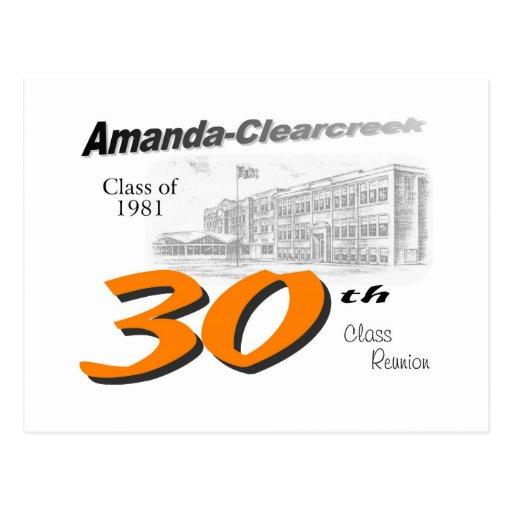 ACHS 30th class reunion logo Post Cards