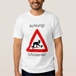 Achtung! Schutzenfest T Shirts