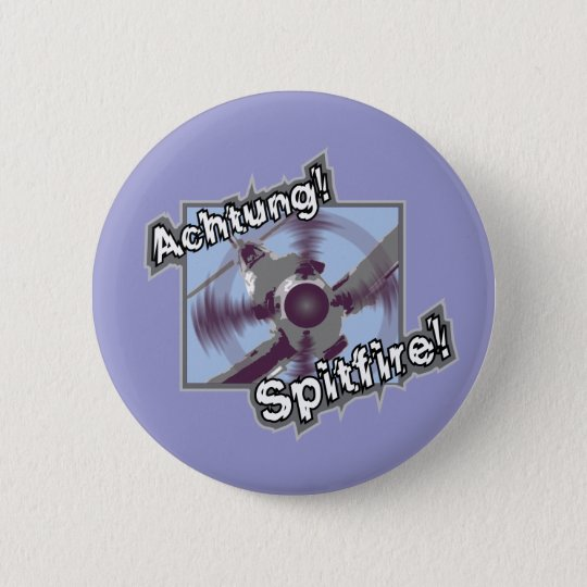 Achtung Spitfire Pin Badge