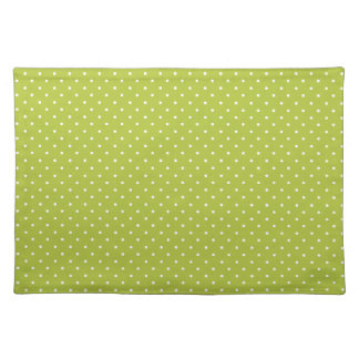 Acid-And-White-Polka-Dots Place Mats