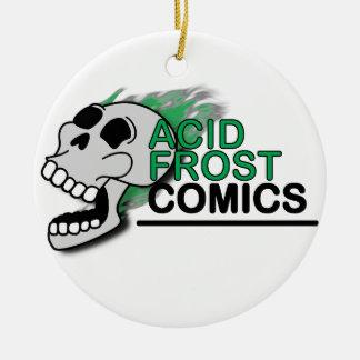 Acid Frost Comics Skull Circle/Round Ornament