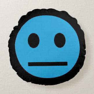 Acid Generation Smiley Blue Round Cushion