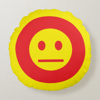Acid Generation Smiley Round Cushion