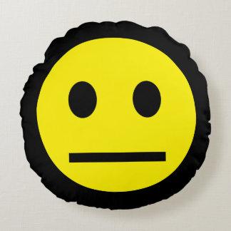 Acid Generation Smiley Yellow Blue Round Cushion