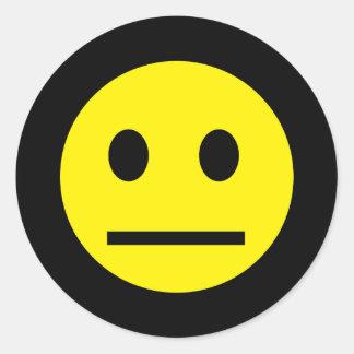 Acid Generation Yellow Smiley Sticker