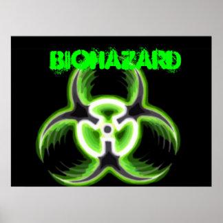 Acid Green Biohazard 08 Poster