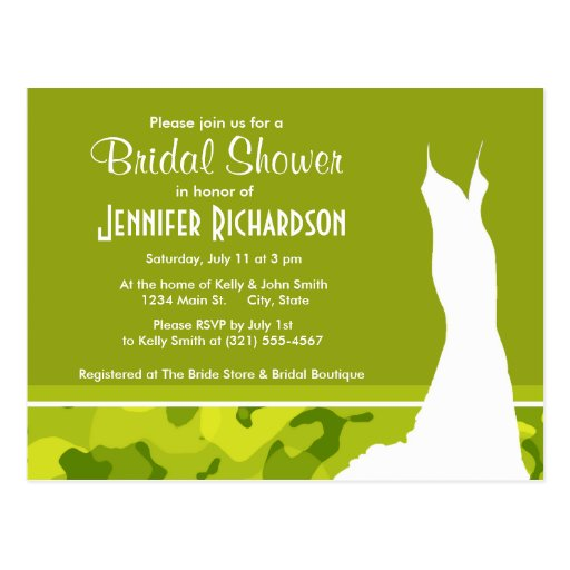 Acid Green Camo; Camouflage; Personalized Post Card